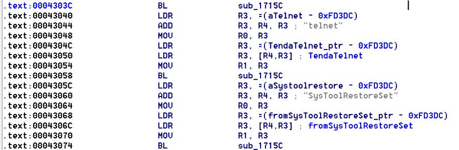 Unauthenticated Start of Telnetd on Tenda AC15 Router